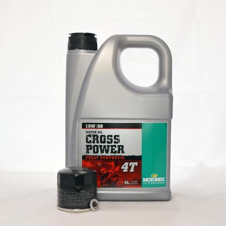 Motorex Cross Power 4T 10W50 Service Kit